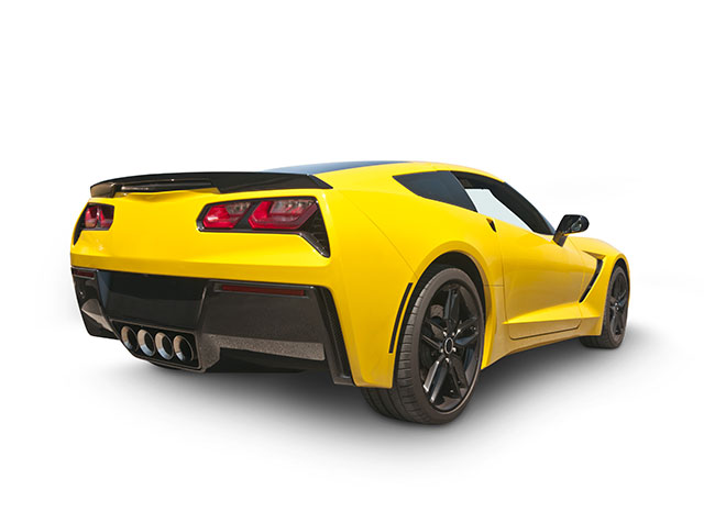 Picture of yellow sports car